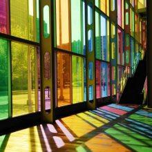 彩色隔热膜 建筑装饰膜透明玻璃贴纸 商场店铺遮阳透光防晒玻璃贴膜