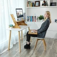 电脑显示器增高架液晶电脑底座托架竹木办公桌面收纳支架置物特价
