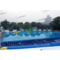 游泳池20*15*0.6米移动水上乐园充气滑梯充气水池