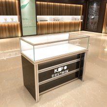鸿钛1000*600*950mm钢化玻璃工艺精品柜_Q-03银色型材精品柜厂家价格