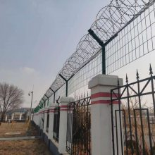 刀刺网隔离网 监狱墙刀刺加高隔离网 围墙加高
