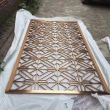 工厂定制屏风 不锈钢隔断 古铜色金属花格 镂空复古餐厅浮雕