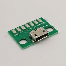 厂家供应Micro USB 5P母座测试板 MICRO USB5P母头带板测试座