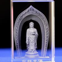 辽宁水晶人物内雕定做 大连水晶礼品厂家 大楼模型礼品制作