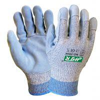 海太尔0056耐磨缝皮防割手套 防震防穿刺手套 防撕裂防割手套