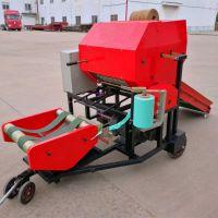 全自动青贮打包机 玉米秸秆液压青储打捆包膜机