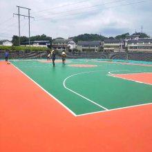 永州社区篮球场材料批发价 东安学校新国标篮球场地胶施工