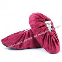 一踏鹏程绒布鞋套 家用布加厚防滑耐磨可反复清洗 鞋拖鞋