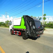 新款升级硅胶面板压缩垃圾车 环卫垃圾清运车 市政环保垃圾车价格