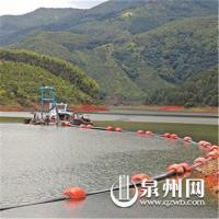 山美水库环保疏浚工程塑料管道浮筒生产厂家