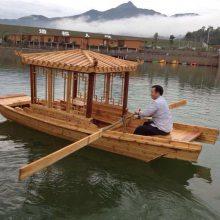 木船出售手划观光船定做景区农庄旅游休闲木船服务类船