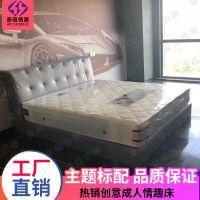 厂家定制宾馆酒店软包床公寓客房标间床1.8米1.2米家具床特价批发