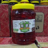 南阳奶茶店果酱批发 大桶装果味酱5斤