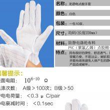 防静电手套电子厂专用无尘手套防滑粒带点胶手套加厚耐磨丁腈手套