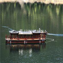 木船画舫船餐饮船水上休闲娱乐住宿的船电动游船