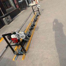 水泥路面提浆整平用的混凝土振动梁摊铺机 手扶式地面振动梁 框架式路面整平机