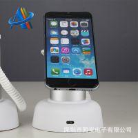 苹果手机充电拔线报警器OPPO三星华为小米VIVO柜台展示防盗支架锁
