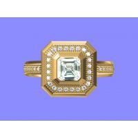 白铜镀金戒指加工 钯金戒指 音速金戒指—宝石饰品加工厂家