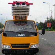 云梯搬家作业车新款国六底盘配置云梯伸缩梯臂可达28米高度