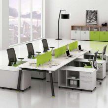 江西办公家具职员办公桌厂家定制 南昌九江简约现代屏风卡位双人电脑桌椅组合