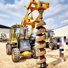大连公路地下挖坑钻孔机价格 快速施工 20铲车挖坑机价格 洪涛