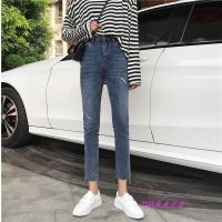 广州便宜秋季新款女士弹力牛仔裤女装学生修身小脚铅笔女式长裤子韩版