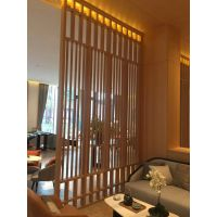 挂墙木纹铝窗花屏风,金属铝隔断挂落专业深化图纸专业厂家制作