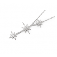 APM Monaco 镶晶钻项链纯银饰品批发