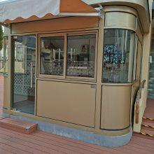 台州保安岗亭生产厂家 小区PVC挂板岗亭样式设计定制