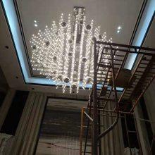 后现代简约别墅酒店满天星LED光立方大吊灯创意复式楼工程灯灯饰定制