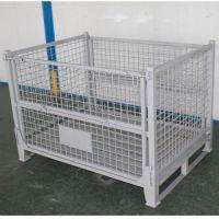 mx112折叠金属网格钢料箱加厚 铁周转框料箱 料筐 金属箱铁质零件箱废料铁箱