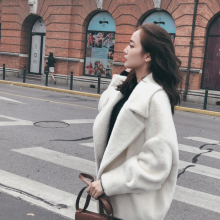 东莞 白马服装批发市场 茜可可 休闲风格 加厚大衣女装秋冬季水貂绒短款开衫外套 女装加盟