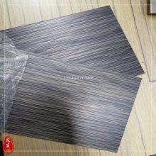 手工拉丝发黑镀铜板 建筑装饰304古铜乱纹不锈钢板 紫铜乱纹板