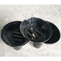 不锈钢直通地漏 无水封碳钢直通带盖管道排水漏斗