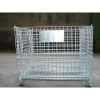 圆钢折叠仓库笼,蝴蝶笼利欣供应定制批发,移动仓储笼规格