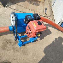 软管式沙子输送机 电动双管抽料机