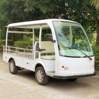 安步优品ABLQF090承载1吨白色全顶两座平板场内四轮电动货车电动搬运车电动运输车