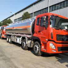 铝合金油罐车,东风天龙前四后八油罐车,25吨28吨30吨油罐车厂家价格