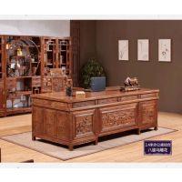 中山名琢世家2米豪华办公桌写字台刺猬紫檀