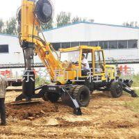 基础工程钻孔灌桩成孔旋挖钻机 性能稳定加厚钢板轮式旋挖钻机