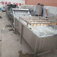 自动出料清洗机 茶叶喷淋清洗机 康汇叶菜气泡清洗设备
