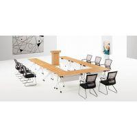 江西会议桌长桌简约现代洽谈创意桌长方形办公桌椅长条桌培训南昌包邮