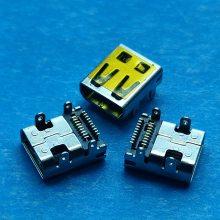 D型MICRO HDMI高清音频接口 四脚插板/双排贴片SMT前插后贴