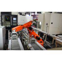 CNC攻钻机、攻铣机自动上下料机器人生产线|一对三机器人机床自动上下料-机床机器人价格