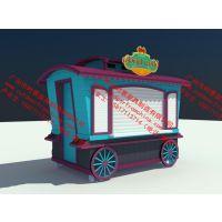 蓝色童话 卡通售卖亭零售花车 主题游乐园风景区商品小吃零售摊位