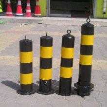河南山木供应防撞柱 固定/活动隔离柱黄黑路桩警示柱镀锌路桩警示柱 交通防撞设施防撞立柱
