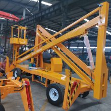 青岛10米曲臂式升降机生产厂家 航天牌柴油机电动液压升降车