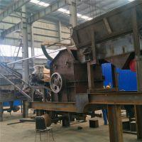 湖北咸宁河卵石打沙机 车架式可移动制砂机 铲车随时拉走的流动制沙机没电可以用吗