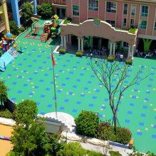 邯郸篮球排球场地防滑地板 室外羽毛球场地板 篮球场专用悬浮拼装地板