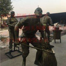 铸铝雕塑-恒天铜雕厂-仿铜铸铝雕塑